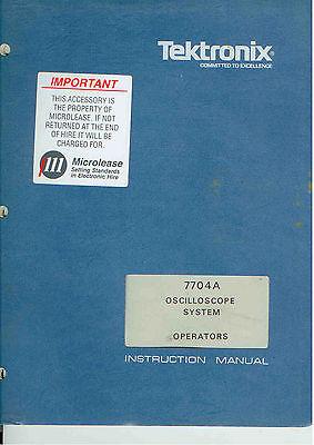 Tektronix 7704a Oscilloscope System Operators Manual Loc.tek 220