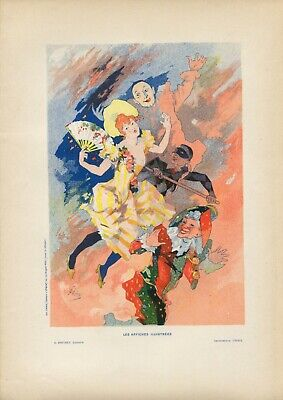 Jules Cheret LA PANTOMIME Vintage French Lithograph, Affiches Illustrees
