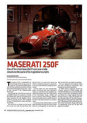 1955 MASERATI 250F / F1 CAR  ~  GREAT 4-PAGE ARTICLE / AD