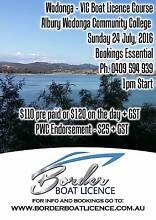 WODONGA - VICTORIAN MARINE (BOAT) LIC COURSE ON SUN 24 JULY @ 1pm Albury Albury Area Preview