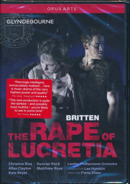 Britten The Rape Of Lucretia DVD NEW Christine Rice Allan Clayton Glyndebourne
