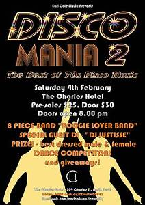 Disco Mania 2 – Charles Hotel – Sat 4th February West Leederville Cambridge Area Preview