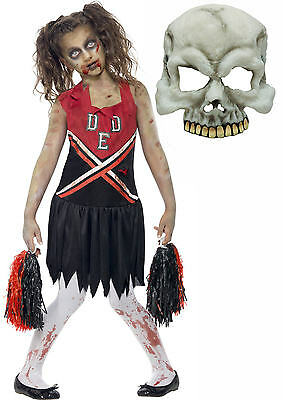 Zombie Monster Cheerleader Girls Kids Teen Halloween Fancy Dress Costume + MASK](Teen Cheerleader)