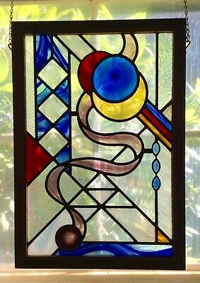 Handcrafted One-Of-A-Kind Stained Glass Panel