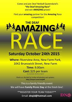 The Deaf Amazing Race New Farm Brisbane North East Preview