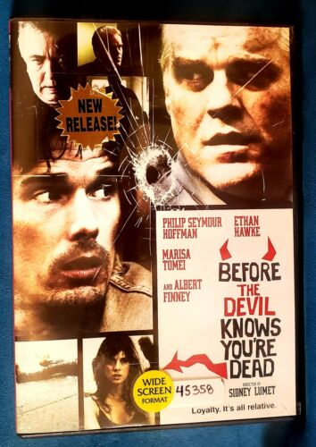 Before The Devil Knows Youre Dead DVD, 2008  - $6.00