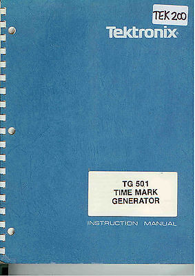 Tektronix Tg 501 Time Mark Generator Op Service Manual Loc.tek 200