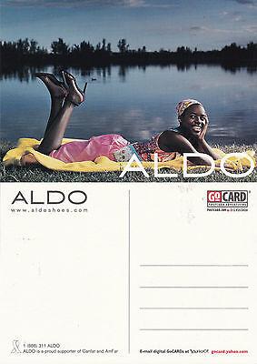 ALDO SHOES UNUSED ADVERTISING COLOUR  POSTCARD (a)