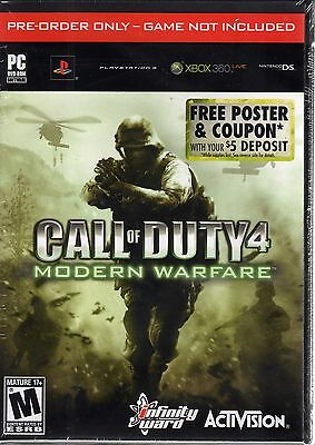 Box Of 30 Call Of Duty 4  Modern Warfare 21X12 Poster In Original Dvd Cases  New
