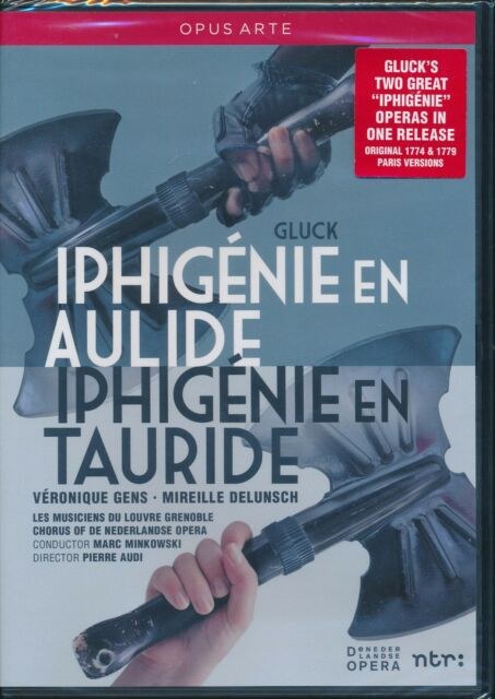 Gluck Iphigenie en Aulide Tauride DVD NEW Veronique Gens Delunsch Opera High Def