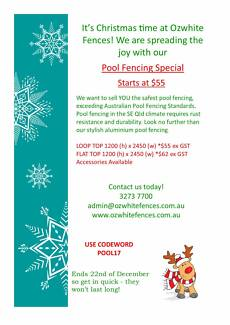 ***POOL FENCING CHRISTMAS SALE STARTS FROM $55 PER PANEL***