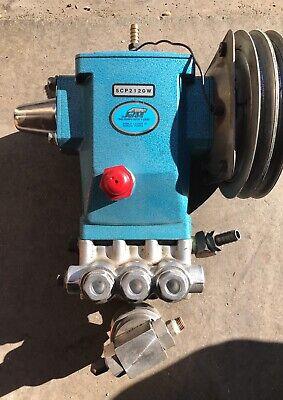 Cat Belt Drive Pressure Pump 5cp2120w 2200 Psi 16.5mm Shaft W Plumbing