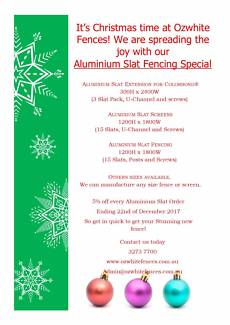 Aluminium Slat Fencing Specials from $65 **CHRISTMAS SPECIAL** Acacia Ridge Brisbane South West Preview