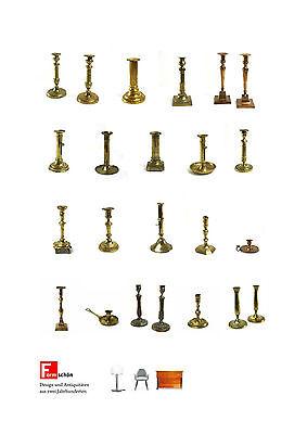 bedeutende Biedermeier, Empire Leuchter Sammlung 23 Stk.,  katalogisiert