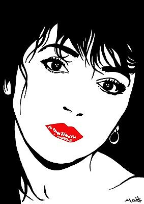 NOW ONLY £2.50  !!  KATE BUSH POP ART GREETINGS CARD MATT SMITH SIGNED PAINTING