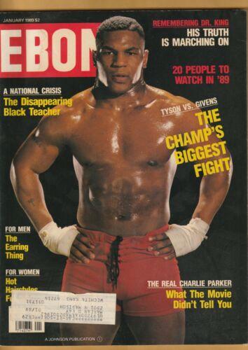 VTG Ebony Magazine, Jan. 1989, MIKE TYSON, Martin Luther King Jr, Charlie Parker