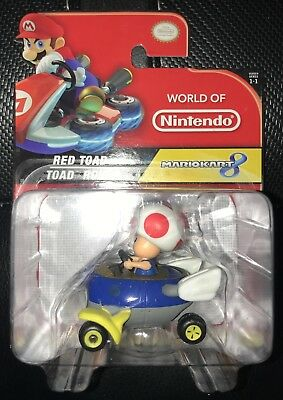 Toad Mario Kart (Jakks World Of Nintendo Series 1-1 Red Toad - Mario Kart)