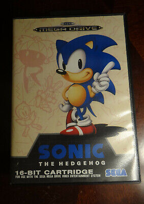 Sonic the Hedgehog Sega Mega Drive CIB With Poster Genesis Game Complete