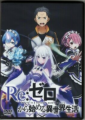 Re Zero Episodes 1-38 Seasons 1-2 English Dubbed Anime on 5 DVDs