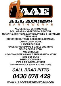 EARTHMOVING & LANDSCAPING, LAWNS, DIG OUTS, EXCAVATION WORK Salisbury Heights Salisbury Area Preview