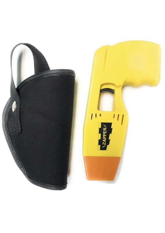 Zapper Toy Taser YELLOW with Custom Holster