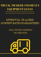 Truck, Trailer And Heavy Equipment Loans