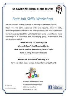 Free Job Skills Workshop