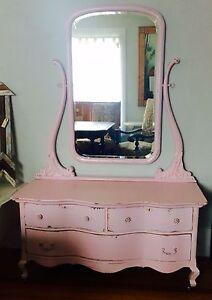 Painted Pink Antique Dresser