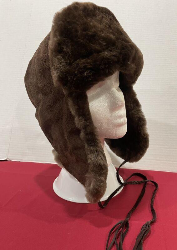 Authentic Eskimo Hat BEAVER Fur And Leather Alaska SUPER WARM Paid $300.