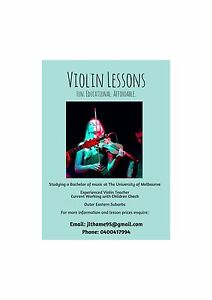 Violin Lessons with Jess Thame Mooroolbark Yarra Ranges Preview