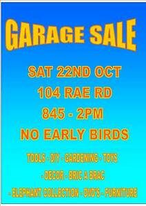 MONSTER GARAGE SALE  SATURDAY 22ND OCT 8-2PM Shoalwater Rockingham Area Preview
