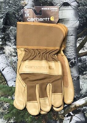 Carhartt Work Garden Glove With Safety Cuff X-large Brown Fast Shipping