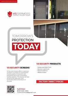 VS Security Doors and Screens - complete Security solution