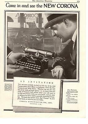 1923 Corona Typewriter Co. Groton New York Rochester NY Store Showroom Print (Corona Store)