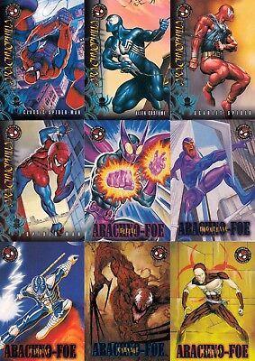 SPIDER-MAN PREMIUM 1996 FLEER COMPLETE BASE CARD SET OF 100 MARVEL