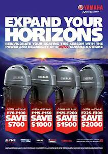 Yamaha mid year 70hp - 300hp 4 stroke outboard sale Seville Grove Armadale Area Preview