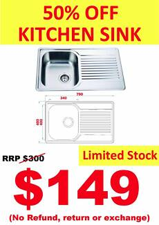 50% OFF KITCHEN SINK~~END OF FINANCIAL YEAR SALE!!