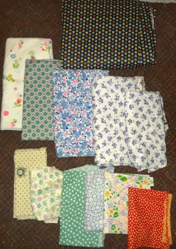 Lot of Vintage Cotton Fabrics