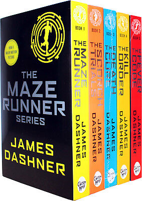 Maze Runner Series 5 books Set James Dashner, The Death Cure , Scorch Trials NEW