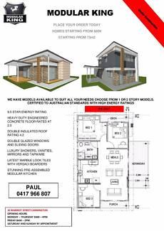 TRANSPORTABLE MODULAR HOUSE - GRANNY FLAT - DONGA - LIVING AREAS