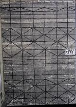New Tibet Art Grey Heat Set Polypropylene Geometric Design Rugs Melbourne CBD Melbourne City Preview