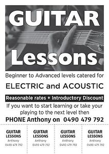 Guitar Lessons Bentleigh East Glen Eira Area Preview