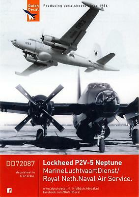 Dutch Decals 1/72 LOCKHEED P2V-5 NEPTUNE in Dutch Navy Service, used for sale  USA