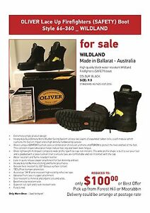 SAFETY BOOTS - FIREFIGHTERS - REDUCED FOR QUICK SALE! Forest Hill Whitehorse Area Preview