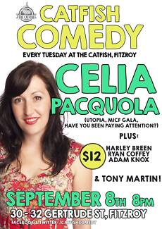 CELIA PACQUOLA and TONY MARTIN at CATFISH COMEDY Fitzroy Yarra Area Preview