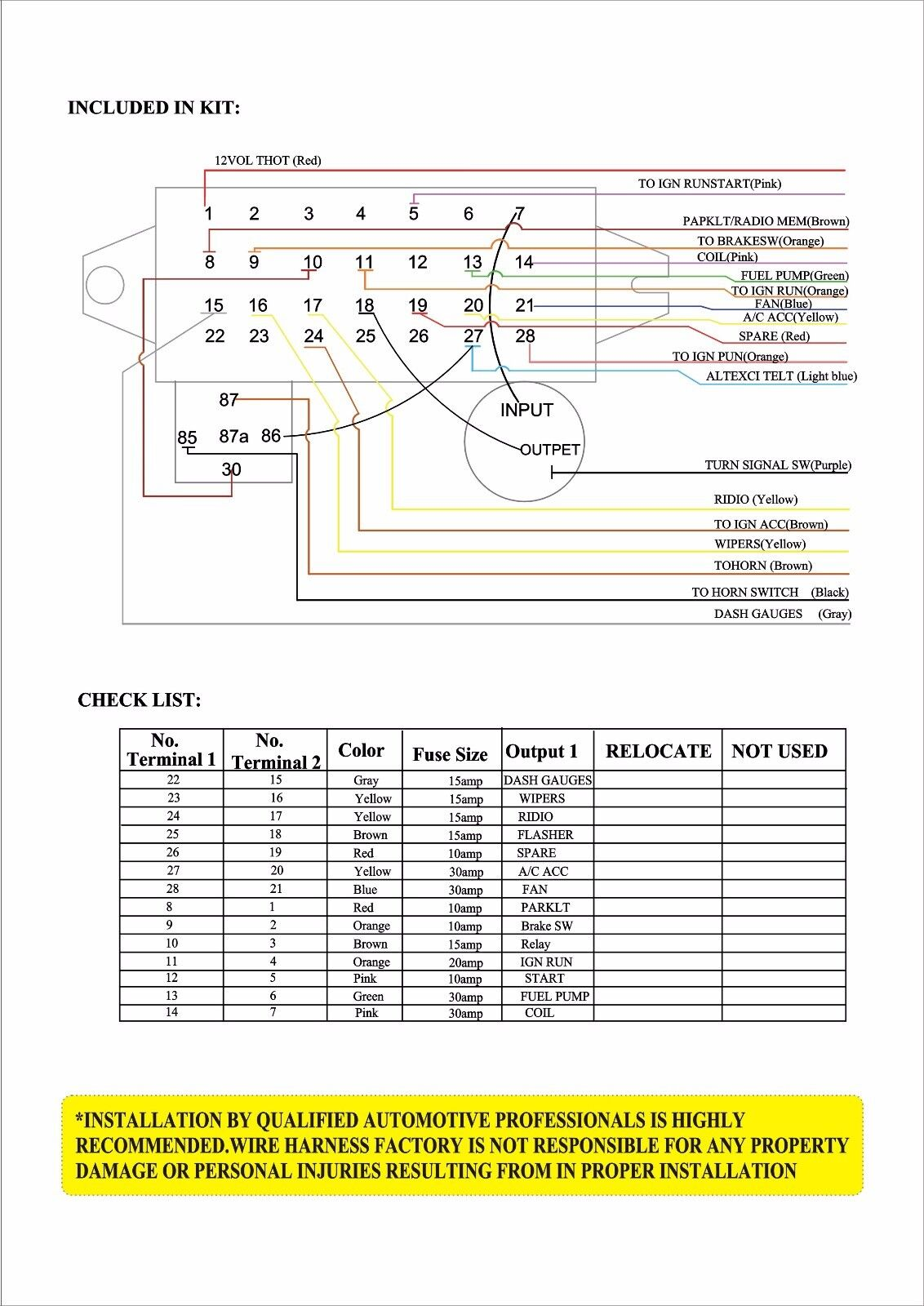 Rat Rod Basic Wiring Diagram Schemes Street 12 Circuit Wire Harness Fuse Box Hot Car Directionals For