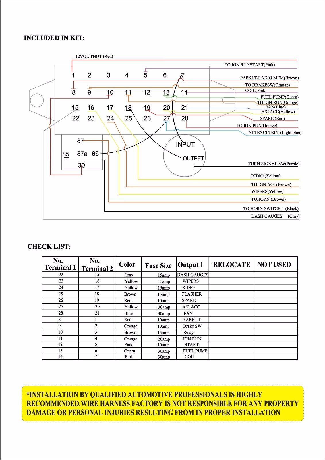 12 Circuit Wiring Harness Diagram Good 1st Vw Bug Complete Basic Wire Fuse Box Street Hot Rat Rod Car Rh Ebay Com Rebel Ez Harnesses For Cars