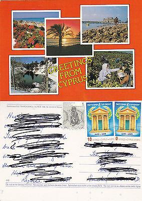 1993 MULTI VIEWS OF CYPRUS COLOUR POSTCARD