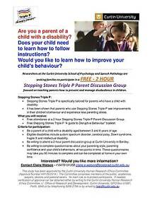 FREE Parenting group for parents of kids with a disability Bentley Canning Area Preview