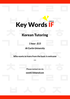 Korean Tutoring from Beginners to Advanced ($15 per hour)